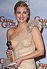 Photos of Drew Barrymore in Press Room at GG
