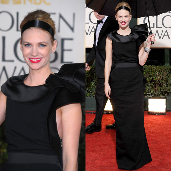 January Jones at the 2010 Golden Globe Awards Wearing Lanvin