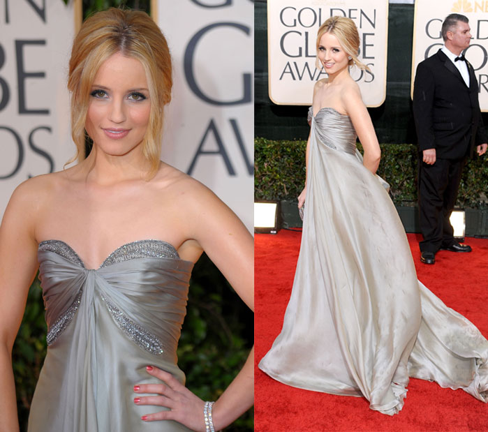 Dianna Agron in Reem Acra at 2010 Golden Globe Awards