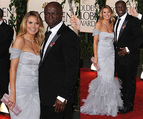 Heidi Klum in Roberto Cavalli at 2010 Golden Globe Awards 2010-01-17 17:46:34