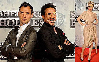 Photo of Robert Downey Jr., Jude Law, and Rachel McAdams at the Spain Premiere of Sherlock Holmes 2010-01-14 02:00:00