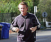 Slide Ohoto of Sean Penn Jogging in Malibu