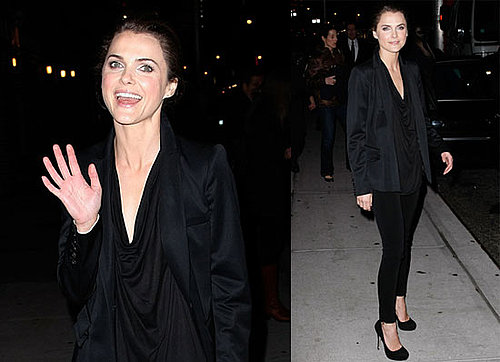Photos of Extraordinary Measure's Keri Russell Appearing on The Late Show