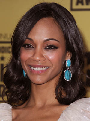 Zoe Saldana at 2010 Critics' Choice Awards 2010-01-15 17:51:47