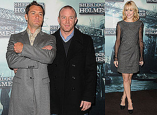Photos of Jude Law, Rachel McAdams, and Guy Ritchie at a Paris Photo Call For Sherlock Holmes