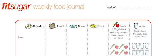 FitSugar's Printable Food Journal
