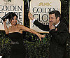 Slide Photo of Courteney Cox and David Arquette Joking on Golden Globes Red Carpet
