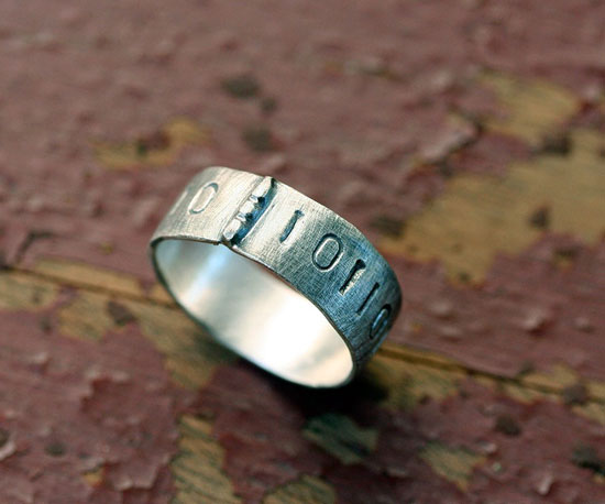 Silver Binary Ring