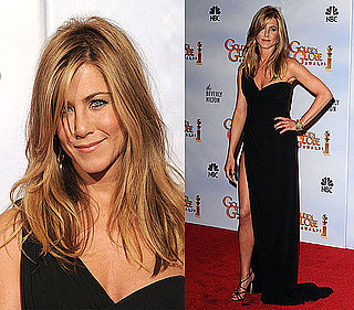 Jennifer Aniston in Valentino at the 2010 Golden Globe Awards Red Carpet