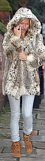 Kate Moss Wears Leopard Coat in London 2010-01-19 14:30:00