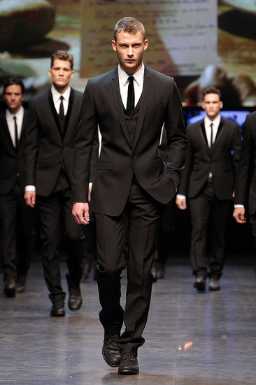 2010 Fall Mens Milan Fashion Week Runway Collections From Dolce & Gabbana, Burberry, and Alexander McQueen