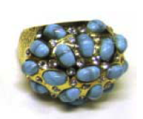 Cluster Ring With Crystals and Stones