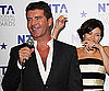 Slide Photo of Simon Cowell Accepting a National Television Award in London