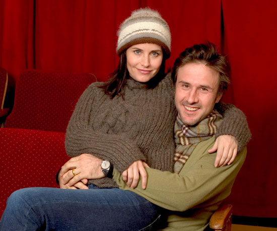 Then-couple Courteney Cox and David Arquette took a portrait together at Sundance in 2004.