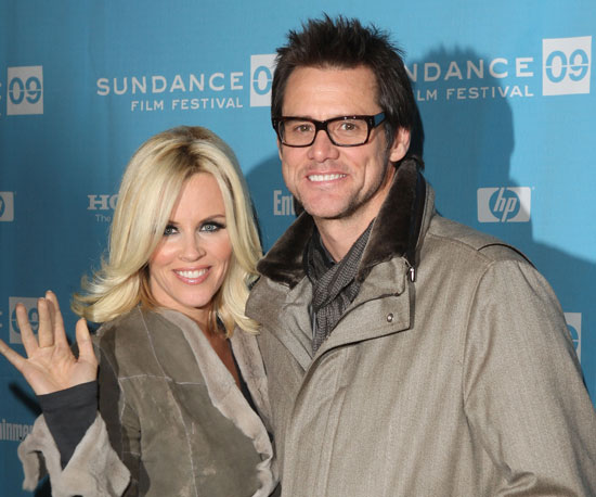 Then-couple Jenny McCarthy and Jim Carrey bo
