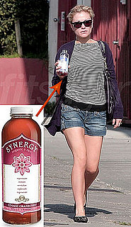 Photo of Anna Paquin Drinking Kombucha