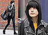 Photos of Agyness Deyn out in New York City on Her Phone, Agyness Has Become Friends with James Franco