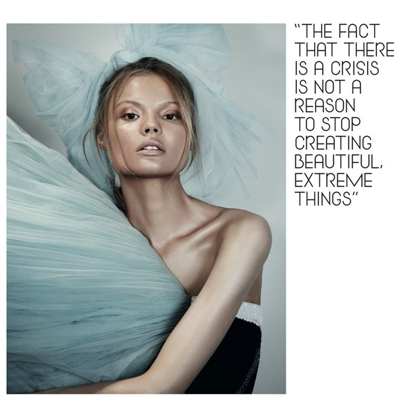 Girls on Film: Magdalena Frackowiak, Dazed & Confused, February '10