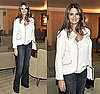 Penelope Cruz at LA's L'Ermitage Hotel in White Chanel Jacket and Jeans
