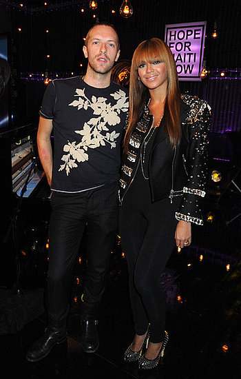 Chris Martin and Beyonce