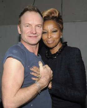 Sting and Mary J Blige