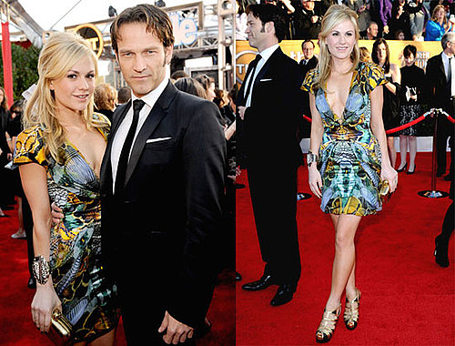 Photos of Stephen Moyer and Anna Paquin on the Red Carpet of the 2010 Screen Actors Guild Awards