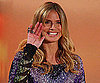 Slide Photo of Heidi Klum Wearing a Purple Dress on German TV