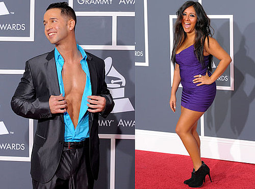 Photos of Jersey Shore Stars Snooki and The Situation on Grammys Red Carpet