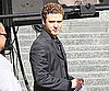 Slide Photo of Justin Timberlake on the Set of The Social Network in LA