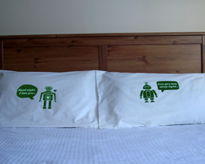 Handmade Robot Pillowcases