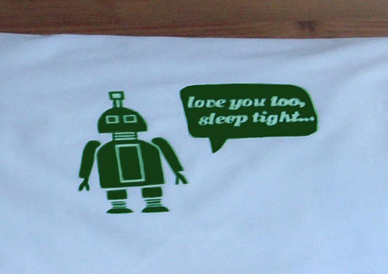 Photos of Robot Pillowcases