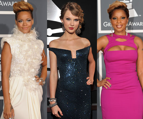 Unique Necklines at 2010 Grammy Awards