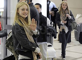 Photos of Dakota Fanning Arriving at LAX After Promoting The Runaways at the 2010 Sundance Film Festival With Kristen Stewart