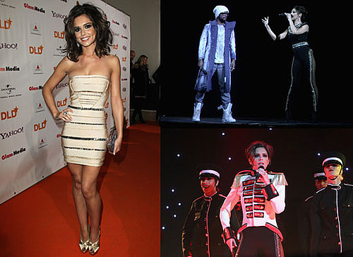 Photos of Cheryl Cole With Hologram of will.i.am Black Eyed Peas at DLD Starnight in Munich