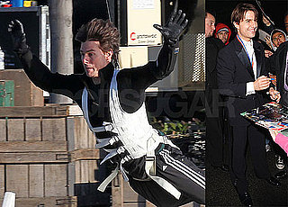 Photos of Tom Cruise Doing Stunts on the LA Set of Knight and Day