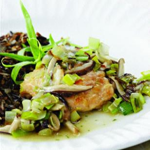 Fast & Easy Recipe For Chicken Thighs With Leeks & Shiitake Mushrooms