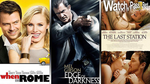 Watch, Pass or Rent Movie Reviews: When in Rome, Edge of Darkness, and The Last Station
