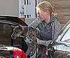 Slide Photo of Anna Paquin With Dog in LA