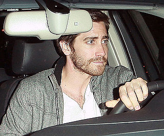 Slide Photo of Jake Gyllenhaal Leaving a Family Dinner in LA