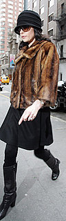 Catherine Zeta-Jones Wears Fur Jacket