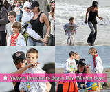 Slideshow of Photos of Victoria Beckham with Romeo, Cruz, and Brooklyn on the Beach in Malibu