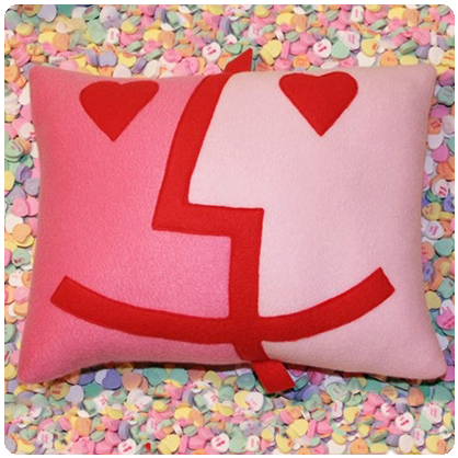 Photos of the Love Connection Pillows