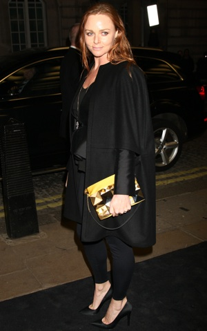 Stella McCartney Holding Yellow Studded Clutch at A Single Man Premiere in London 2010-02-02 07:50:22