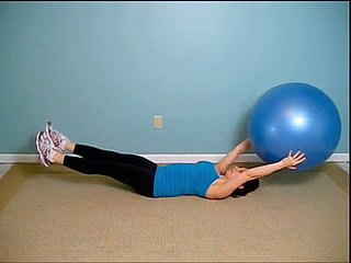 Video of Ab Exercise Using an Exercise Ball