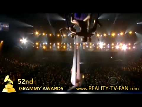 Pink performs Glitter in the Air at 2010 Grammy Awards