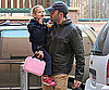 Slide Photo of Ben Affleck Picking Violet up From School