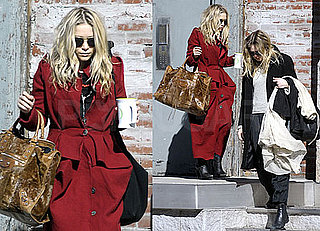 Photos of Mary-Kate and Ashley Olsen Leaving Mary-Kate's NYC Apartment