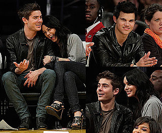 Photos of Taylor Lautner, Zac Efron, and Vanessa Hudgens at LA Lakers Game 2010-02-04 08:45:00