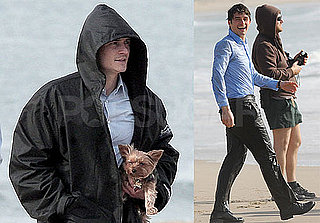 Photos of Orlando Bloom on Set Jumping in the Ocean and Watching Miranda Kerr's Yorkie
