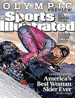 Controversial Photo of Olympic Skier Lindsey Vonn on the Cover of Sports Illustrated